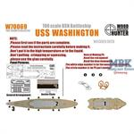 WWII USN Battleship USS Washington