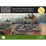 Allied M4A4 and Firefly Sherman Tank 15mm