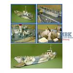 1/76th Scale LCT(4) Tank Landing Craft (Waterline
