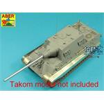 128mm PaK 44 L/55 barrel for Sd.Kfz.186 Jagdtiger