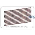 Limewood slats 2 x 4 x 245mm x 12 pcs