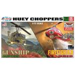 Huey Gunship and Fire Rescue Helicopter (Snap)
