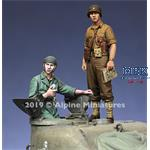 US Tank Commander Summer Set - 2 figs 1/35