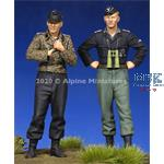 Waffen SS Crew  Set - 2 figs 1/35