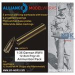 German WWII 12.8cm Pzgr 43 Ammunition Pack (5pcs)
