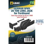 German WWII 20ton Long Jack for Ferdinand 1:35