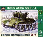 Russian artillery light tank BT-7A
