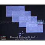 Zimmerit für Panzer IV Ausf H (Trumpeter)  1/16