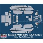Zimmerit Panther G MAN Pattern for RFM