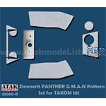 Zimmerit Panther G Mid M.A.N Pattern  (Takom)