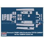 Zimmerit Tiger I mid  Otto Carius 35202 + 35194