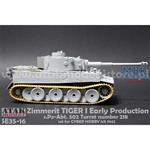 Zimmerit Tiger I early Production Waffle Pattern 2