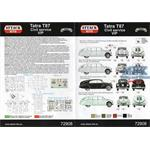 Tatra 87 Civil Versions  1/72