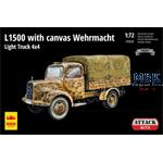 Mercedes L1500 w/ Canvas 4x4 light Truck    1/72