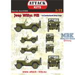Jeep Willy MB1st Czechoslovak Army  Decalset 1/72