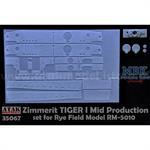 Zimmerit für Tiger I mid Production Rye Field