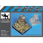 Destroyed M3A1 Stuart base