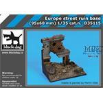Europe street ruin base 95x60mm