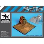 1\72 Destroyed T34 base