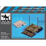 Destroyed bridge base