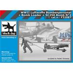 LW Bodenpersonal Bomb loader  SC250 bomb set