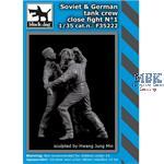Soviet + German tank crew close fight N°1