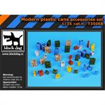 Modern plastic cans accessories set