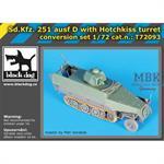 Sd.Kfz. 251 Ausf. D w/ Hotchkiss Turret Converison