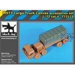 M977 Cargo Truck  canvas accessories set 1/72