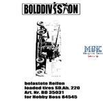 Räder/Wheels for SdAh.220 12,8cm Flak (Hobby Boss)