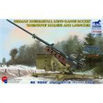 "German Rheinmetall Rocket ""Rheinbote"" w launcher"