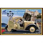 Italian Light Civilian Car Topolino (Open Top)