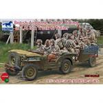 British Airborne Troops in 1/4 ton Truck & Trailer