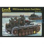 WWII German Infantry Tank Riders Winter Set 2