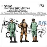 German WWI Airmen - pilot (H.G.) in flight suit
