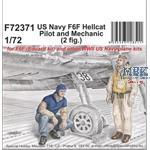 US Navy F6F Hellcat Pilot and Mechanic