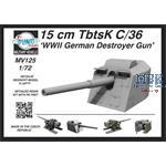 15cm TBTSK c/36 WWII German Destroyer Gun