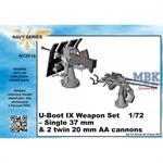 U-Boot IX C  Weapon Set - Single 3,7cm & twin 2cm