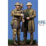 British Officer & Soldier WWI