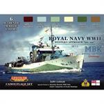 Royal Navy WWII late war Set 2, Farbset 6 x 22ml