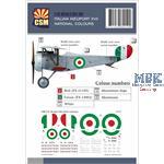 Italian Nieuport XVII national colours