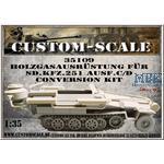 Holzgasausrstg.f.SdKfz.251 Ausf.C/D Conversion kit