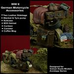 WWII German Motorcycle accessoires set