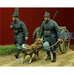 WWI Belgian Dog drawn- Cart with Crew
