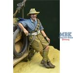 WWI Anzac soldier leaning 1915-18