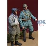 WWII Dutch Infantyman + captured Fallschirmjäger