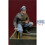 WWII Luftwaffe Fighter Pilot sitting