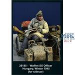 Waffen SS Officer Sidecar Hungary Winter 1945