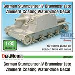 Sturmpanzer.IV Brummbar late Zimmerit Decal set