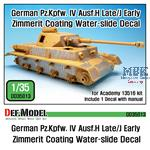 Pz.IV Ausf.H late/ J early Zimmerit Decal set